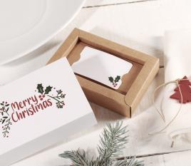 Boîte à cartes de Noël