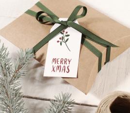 Paquet d'étiquettes de Noël