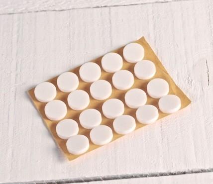 Boutons de Foam pour CD (blanc)