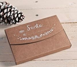 Boîtes kraft imprimées Santa