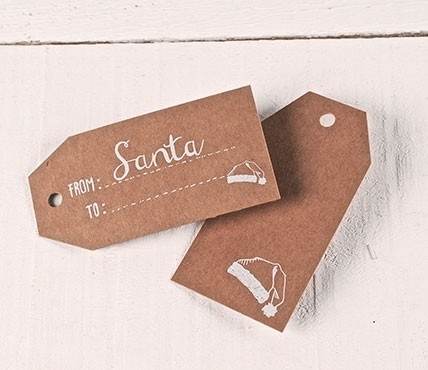 Étiquettes cadeaux imprimées FROM Santa