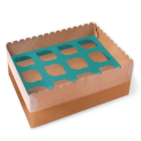 Boîte carton à 12 cupcakes