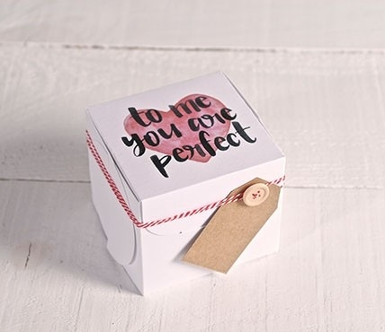 Boîte coeur et message