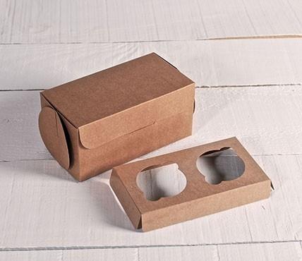 Kit de 5 boîtes pour 2 cupcakes