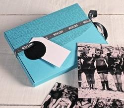 Boîte à photos en bleu clair