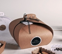 Boîte carton pâtissière à poignée