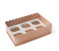 Boîte carton 6 à cupcakes