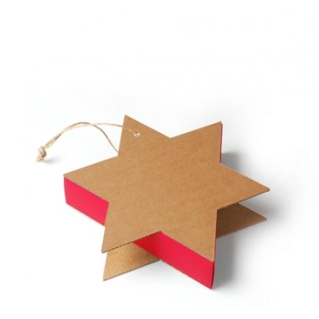 Boîte carton étoile