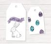 Étiquettes œufs et lapin de Pâques