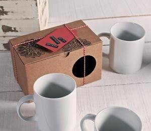 Boîte cadeau pour deux tasses