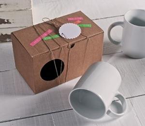 Boîte carton pour deux tasses
