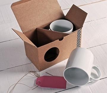 Boîte à mugs avec fenêtre
