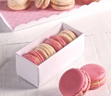 Boîtes rectangulaires à macarons