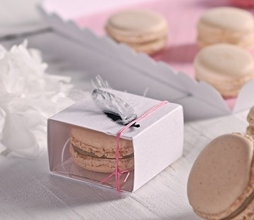 Boîtes pour offrir un macaron