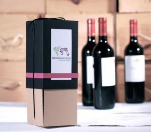 Boîte pour une bouteille avec washi tape