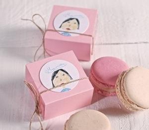 Boîtes pour macaron individuelles