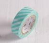 Washi tape lignes turquoises