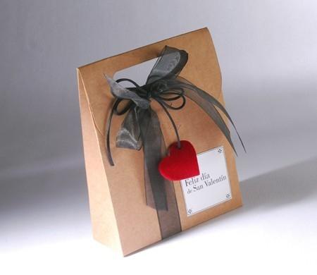 sac cadeau en kraft pour saint valentin. Black Bedroom Furniture Sets. Home Design Ideas