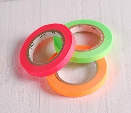 3 washi tape aux couleurs fluor