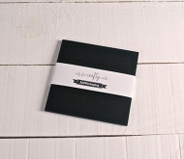 Papier cartonné noir 16,5x16,5cm