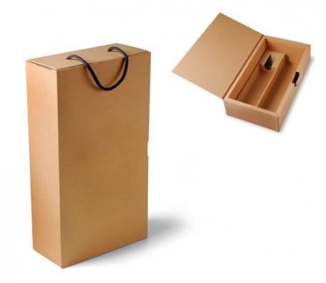 Boîte carton  bouteille avec poignée