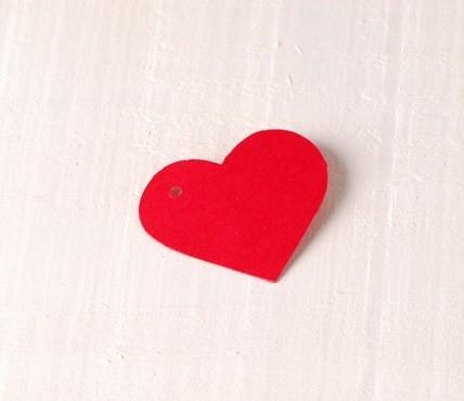 Coeur en Carton Pendentif 10 pcs.