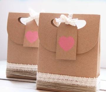 Petit sac en kraft pour la Sain Valentin