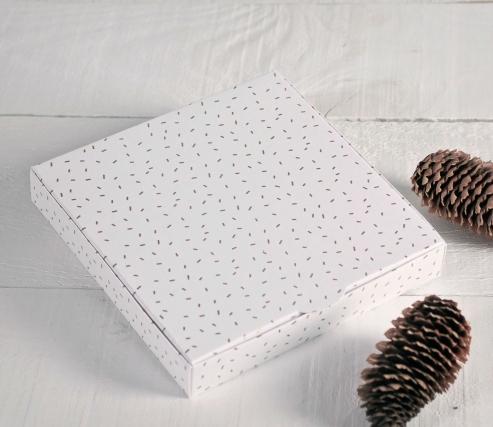 Caja para invitaciones con estampado navideño