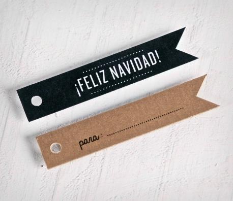 Kit etiquetas regalo impresas Feliz Navidad
