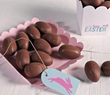 Boîtes pour des oeufs en chocolat