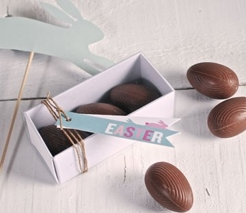 Boîtes rectangulaires pour des oeufs en chocolat