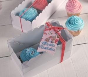 Boîtes hautes pour deux cupcakes
