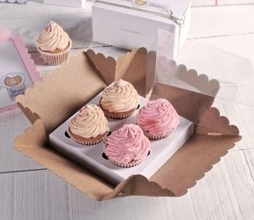 Boîtes hautes pour 4 cupcakes