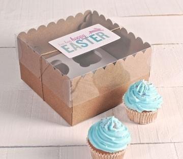 Boîtes Hautes Décorées pour 4 Cupcakes