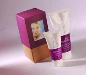 Boîte cadeau bicolore pour cosmétiques