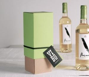 Boîte cadeau bicolore pour des vins