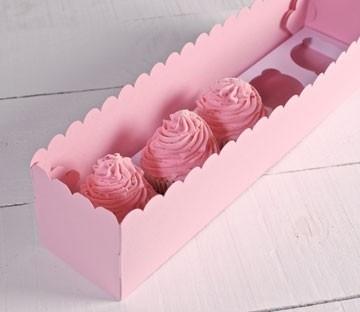 Boîtes pour cinq cupcakes