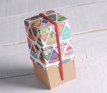 Boîte vertical avec couvercle imprimé