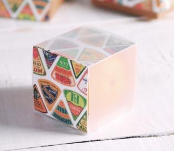 Boîte carrée imprimée