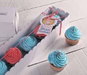 Boîtes rectangulaires pour  cupcakes