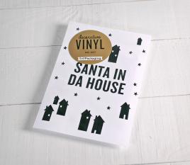 "Autocollant décoratif ""Santa in da house"""