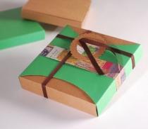 Boîte cadeau carrée, taille L, couleur fuschia avec reduc. 25%