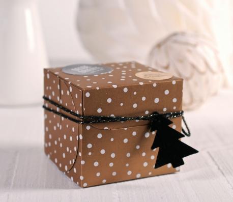 Caja cuadrada para regalos de Navidad