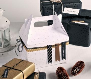 Cajita de picnic impresa para Navidad