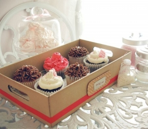 Boîte plateau pour cupcakes