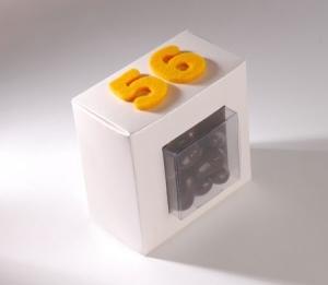 Boîte transparente pour des chocolats