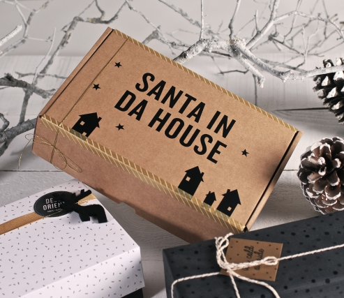 "Autocollants décoratifs ""Santa in da house"""