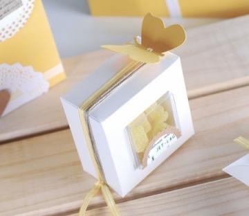 Boîte en PCV transparent pour baptêmes