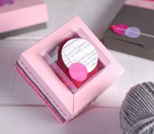Boîte Rose Pour Invitations