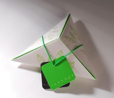 Boîte triangulaire imprimée